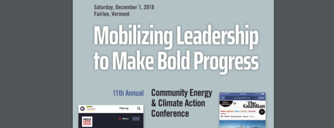 Energy Leaders Gather for Dec. 1 Conference Focused on Vermont Action
