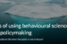 6 Ways of Using Behavioural Science in Green Policymaking