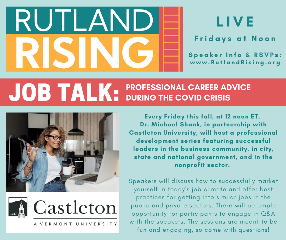 Rutland Rising: Professional Job Talks & Advice