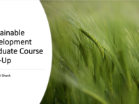 NYU Sustainable Development Graduate Course Pop-Up